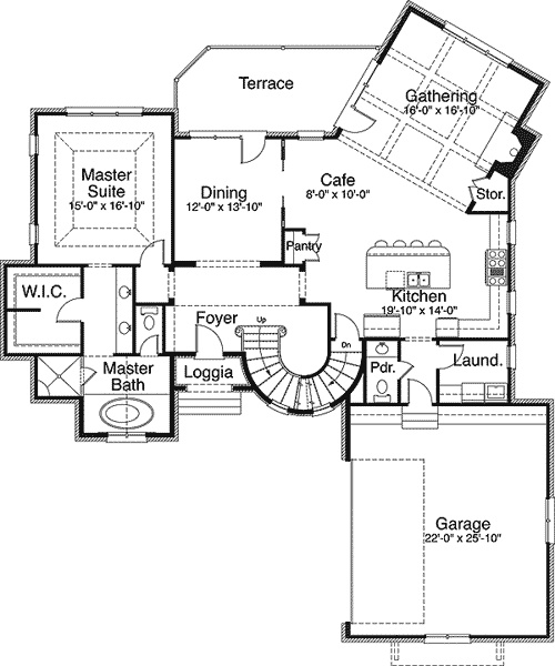 Plan w29503nt fairy tale home plan for Fairy tale home plans