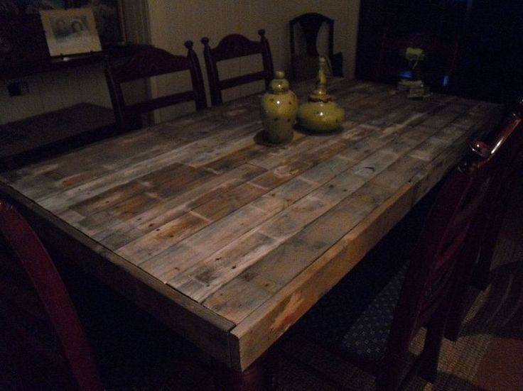 Dining Table Wood Pallet Table