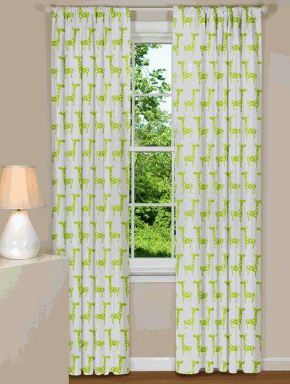 giraffe curtains | Caed's big boy room | Pinterest