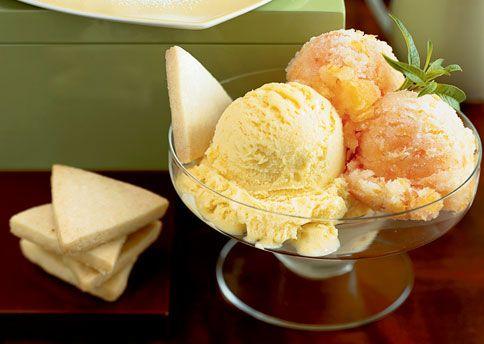 Mango-Lemongrass Ice Cream and Blood Orange Sorbet | Recipe