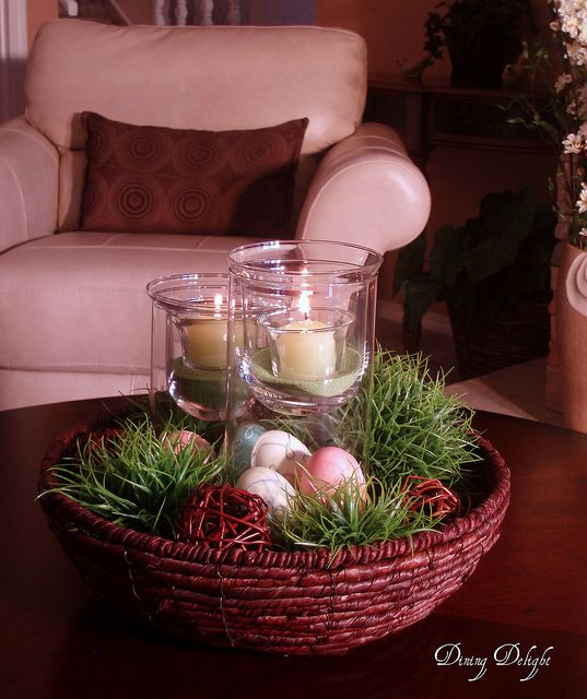 Easter centerpiece for coffee table holiday ideas easter pin Coffee table centerpiece