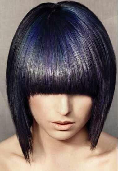Violet highlights   Hot Hair Color   Pinterest