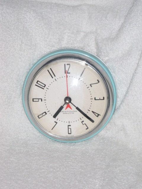 blue westclox kitchen clock old clock 39 s pinterest