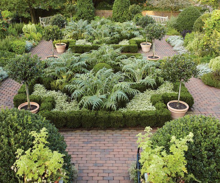 Martha Stewarts herb garden Potager Pinterest