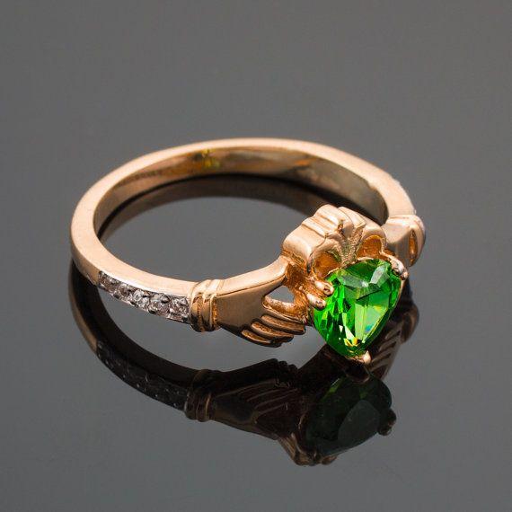 Glencara Rose Gold Celtic Knot Ring