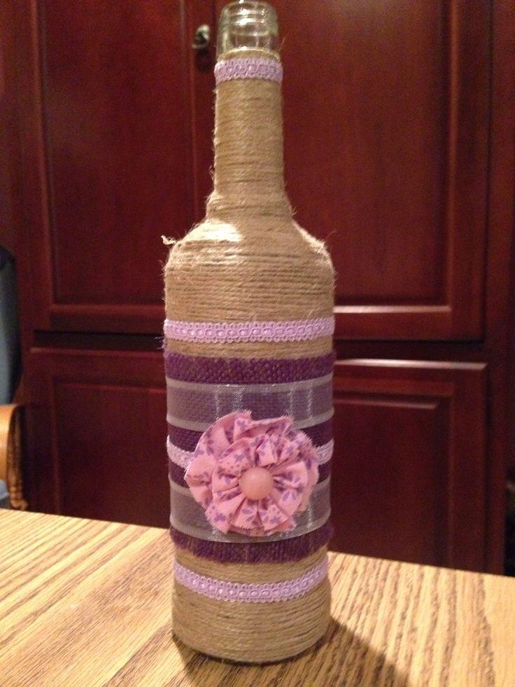 Wine bottle crafts for Diy wine bottle crafts pinterest