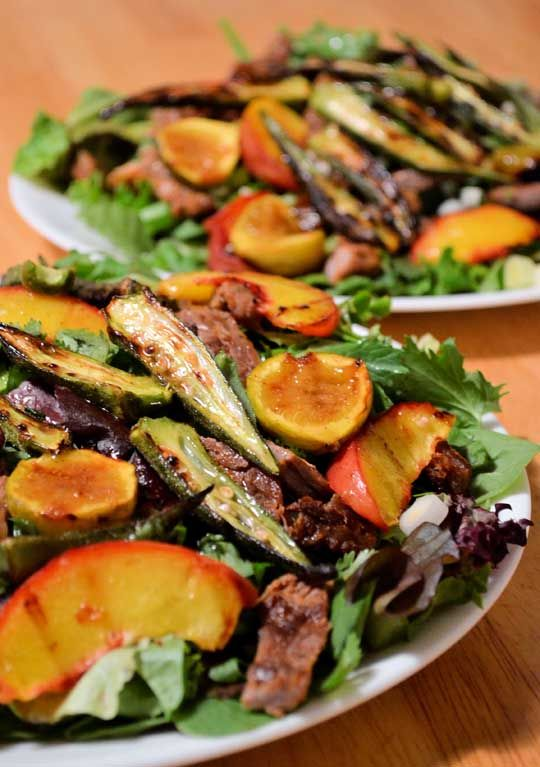Peach Salad. Visit www.CouponMom.com for discounts on all the healthy ...