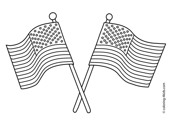 Us Flag Coloring Page