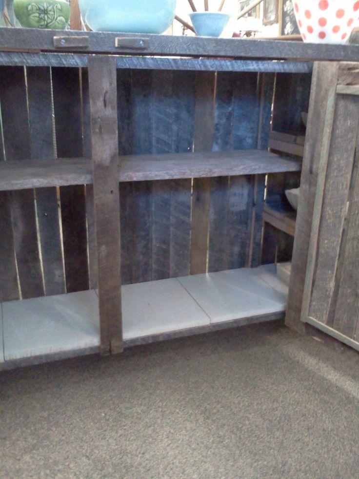 reclaimed barnwood kitchen island or multi use cupboard a