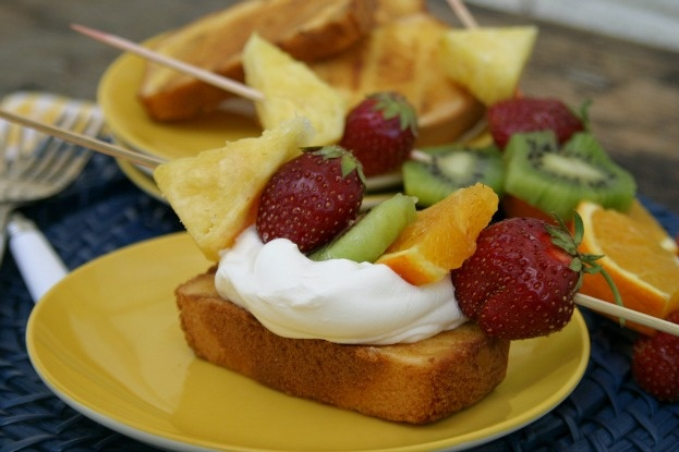 Grilled pound cake ~ A thick slice of pound cake slathered with butter ...