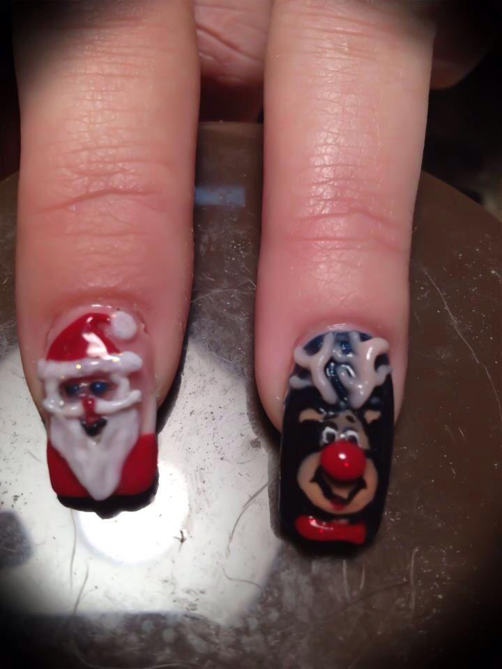 Christmas nail art | Quotes | Pinterest