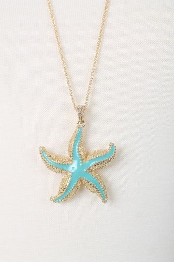 starfish necklace turquoise bracelets and rings these