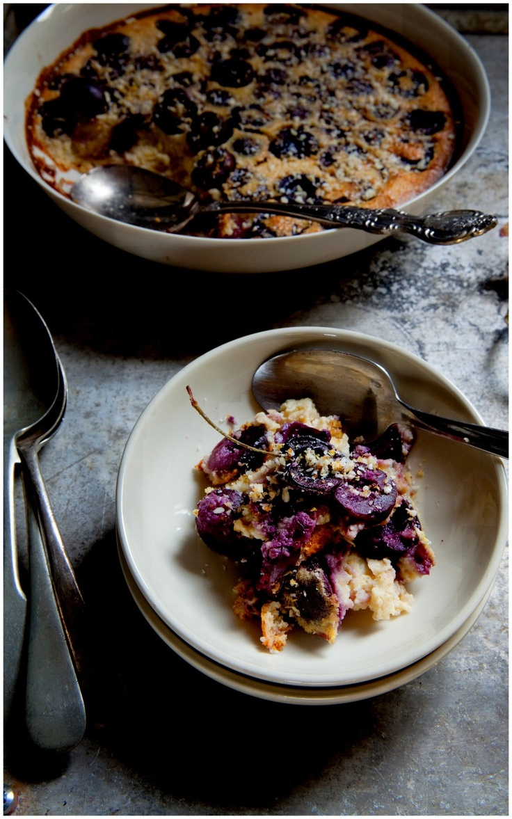 cherry clafouti with a lemon almond crumb (gluten-free, naturally ...