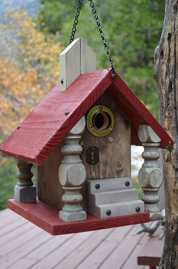 Recycled old table legs bird houses pinterest for Types of birdhouses