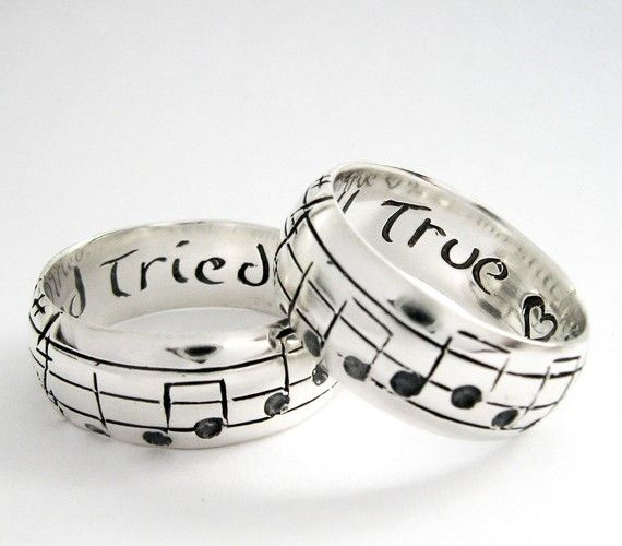 Your Song Wedding Bands 10 Karat White Gold by Ricksonjewellery, 1775 ...