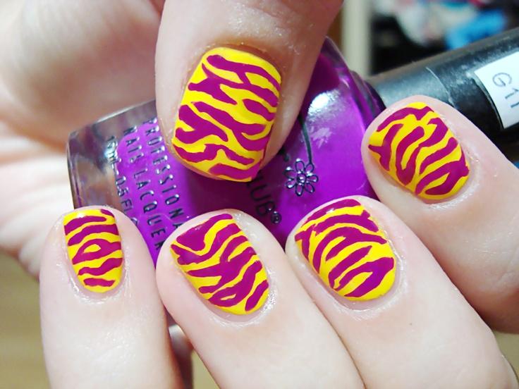 Neon Zebra Print Polished Love ♥
