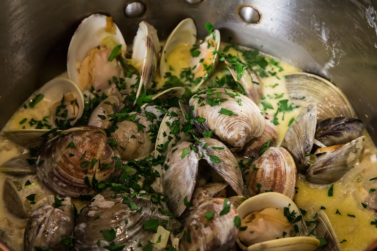Drunken Clams with Sausage | Seafood | Pinterest