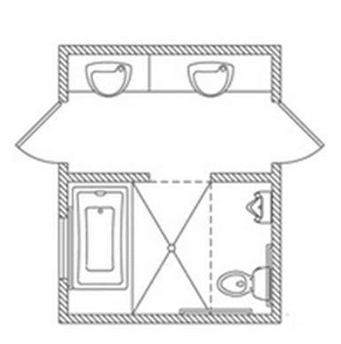 Floor plan 16 x 32 joy studio design gallery best design for Bathroom designs 8x7