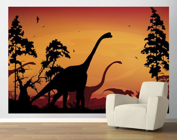Dinosaur wall mural  Mural Reference & Ideas  Pinterest