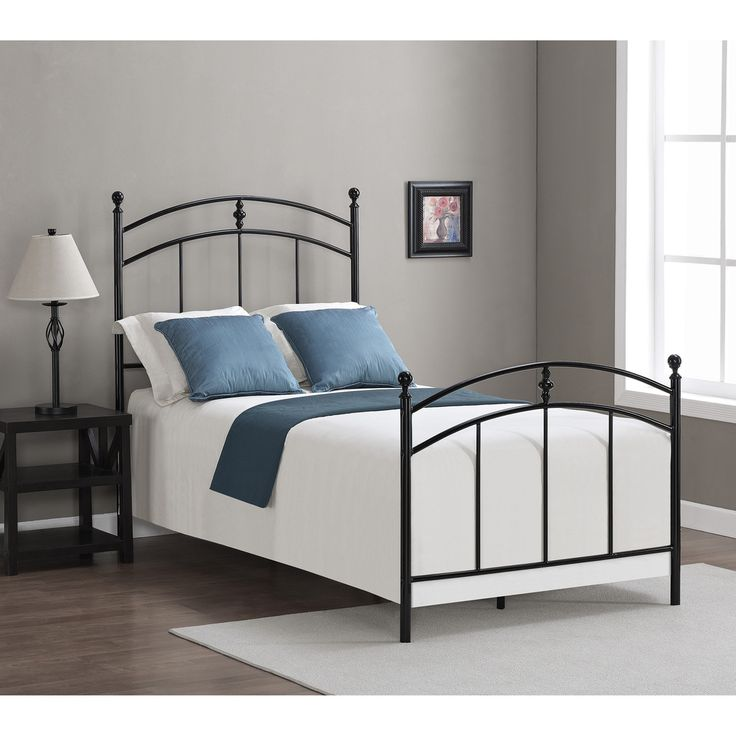Pogo black licorice finish twin size bed frame for Kids twin size bed frame