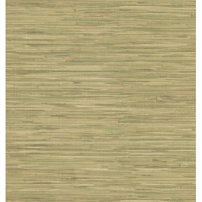... Destinations by the Shore Faux Grasscloth Wallpaper in Beige Green
