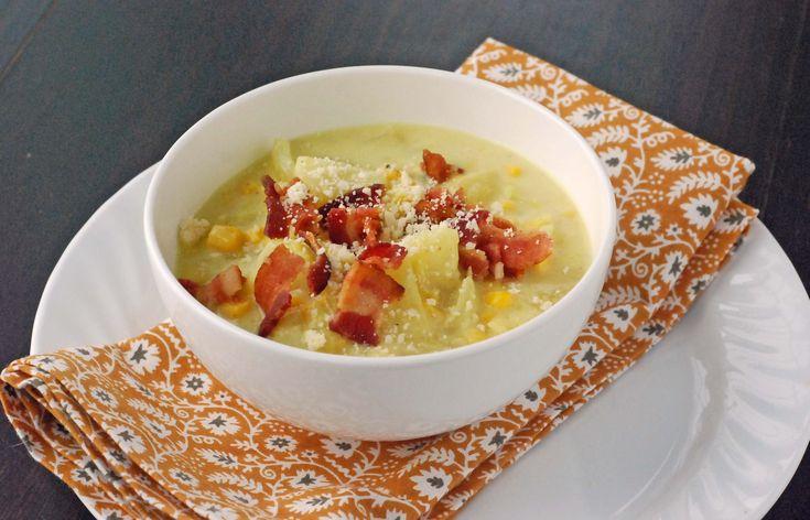 Cheddar corn chowder | 641.55 Soups...Chowders | Pinterest