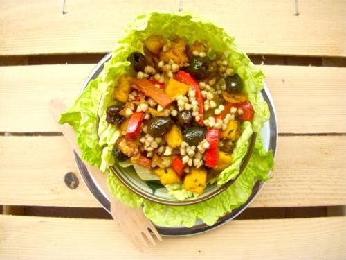 ... TOFU alla CURCUMA BUCKWHEAT SALAD with SAUTEED VEGETABLES & TURMERIC
