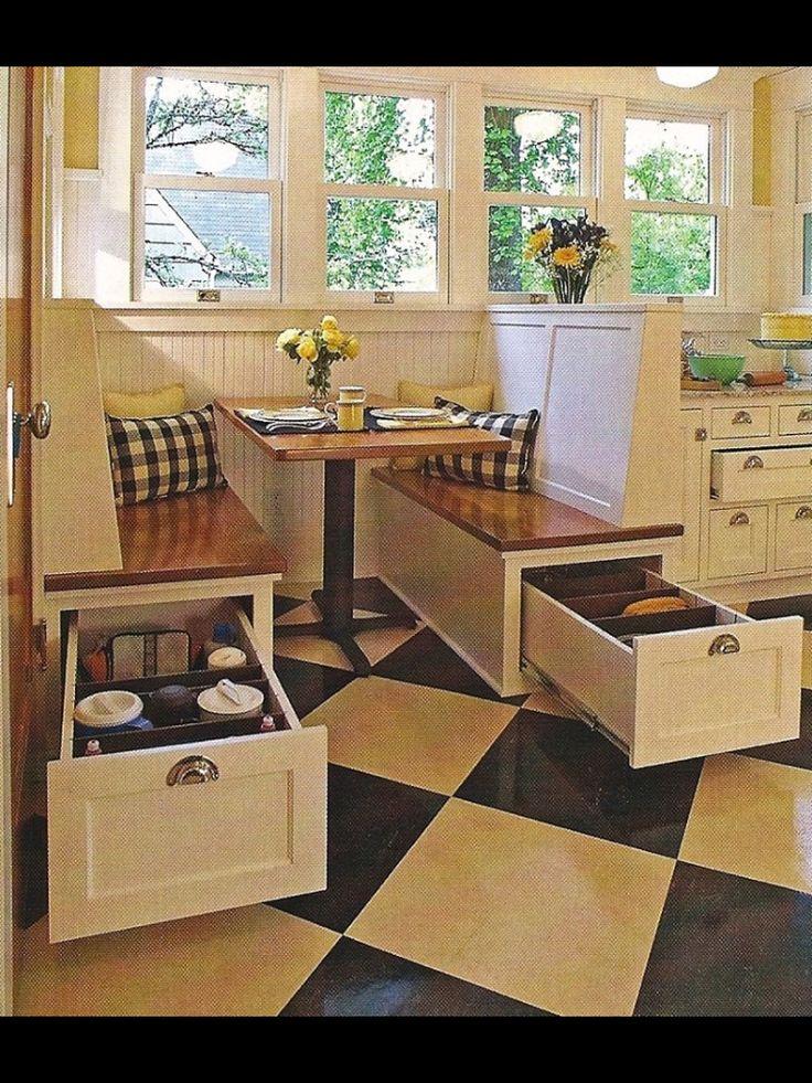 Kitchen storage under bench seats kitchen accessories pinterest - Kitchen bench with storage ...
