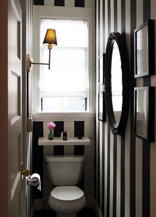 Such a cute chic tiny half bathroom for the home pinterest