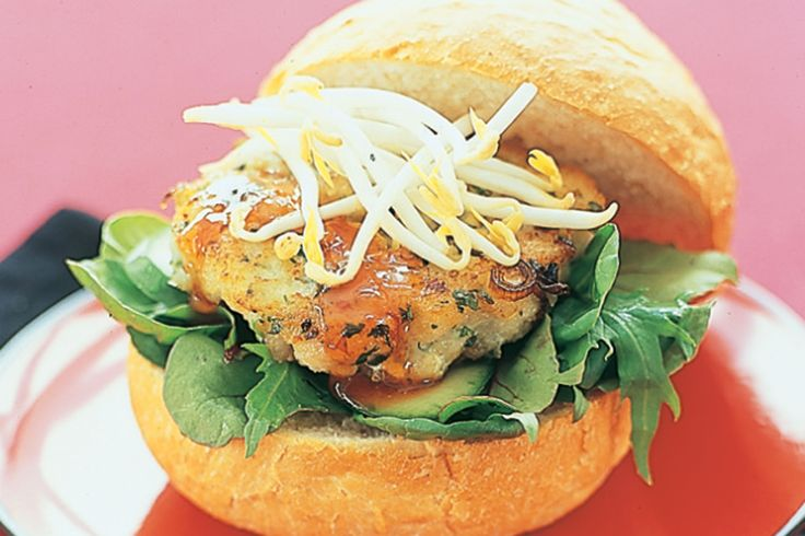 ... some Thai inspiration to the table with these succulent fish burgers