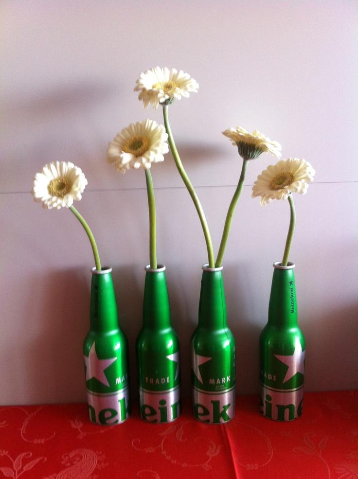 Recycling Heineken beer bottles :)