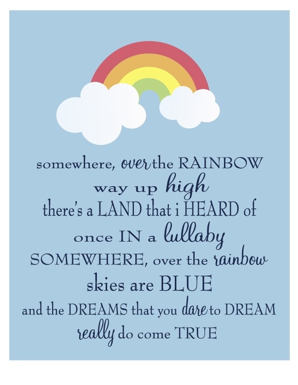 somewhere over the rainbow song