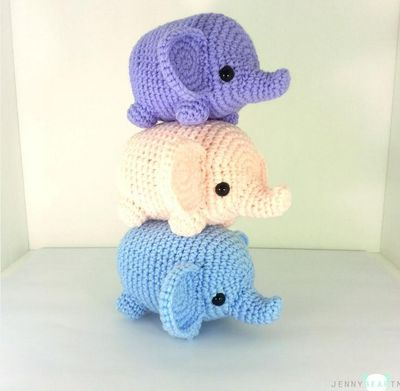Crochet Elephant Pattern : Tiny Elephant Amigurumi Pattern amigurumi animals Pinterest