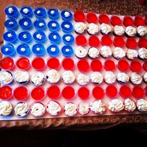 american flag in jello shots...genius