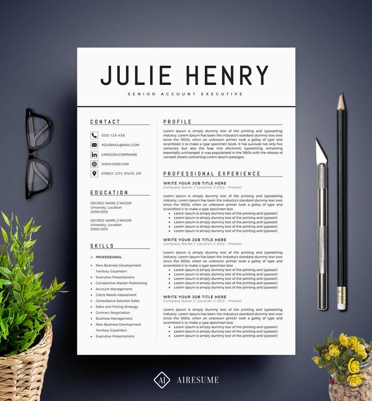 Best 25 Modern resume template ideas on