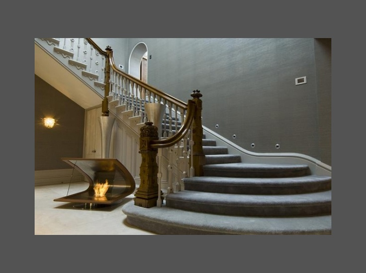 Sweeping Staircase High End Interiors Pinterest