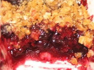 GF Triple Berry Crisp. Super tasty dessert and easy to make!