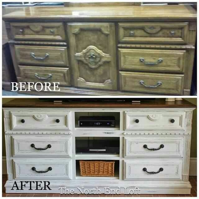Old Dresser Made Into Tv Stand Furniture Refinishing