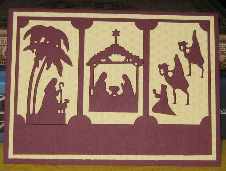 Nativity Border Edge panels | Christmas Cards | Pinterest