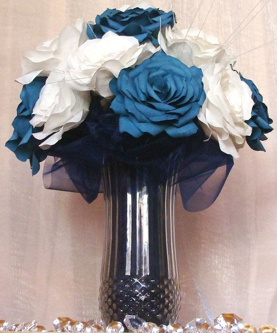 Anchor centerpiece navy blue wedding