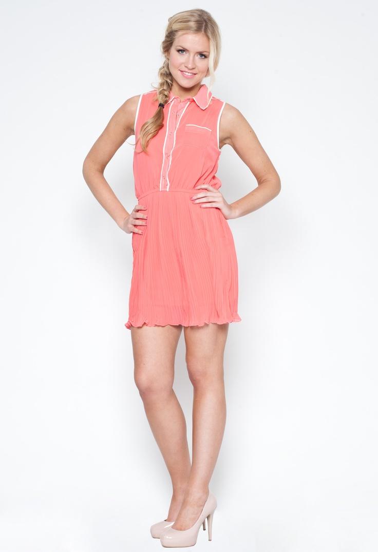 Amanda Plain chiffon Shirt Dress - Dresses - Party Dresses £18.99