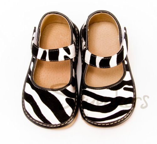 Zebra Jane Mary Jane squeaker shoes