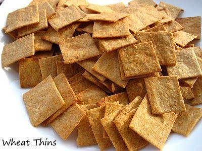 Homemade Wheat Thins   Food   Pinterest