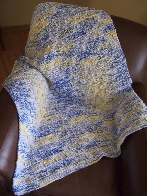 Big Needle Knit Afghan All Things Yarn Pinterest