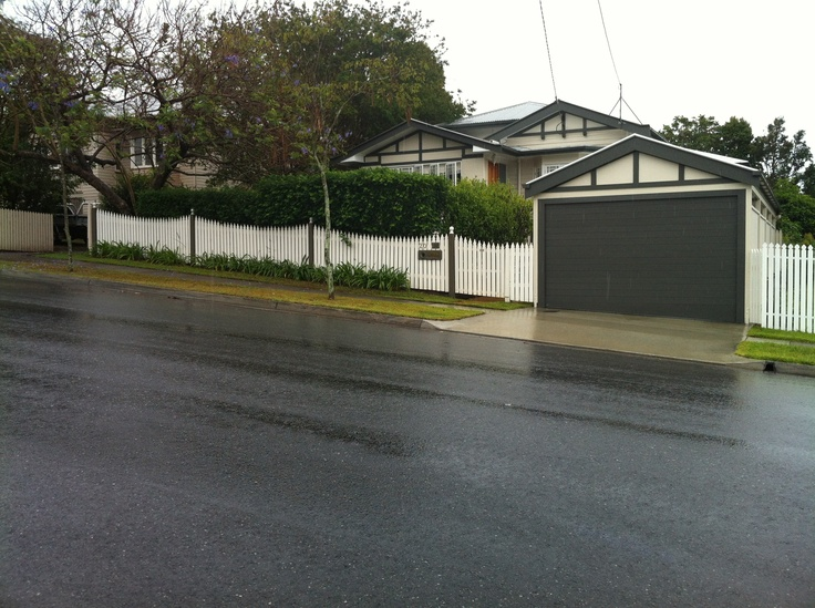 Carport garage fence example reno ideas pinterest for Garage fence