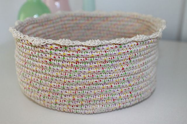Cotton and Rope Basket pattern I wanna Crochet that! Pinterest