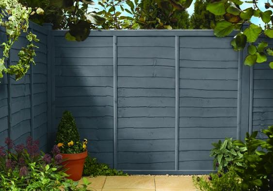 Cuprinol urban slate on fence garden ideas pinterest for Garden decking homebase