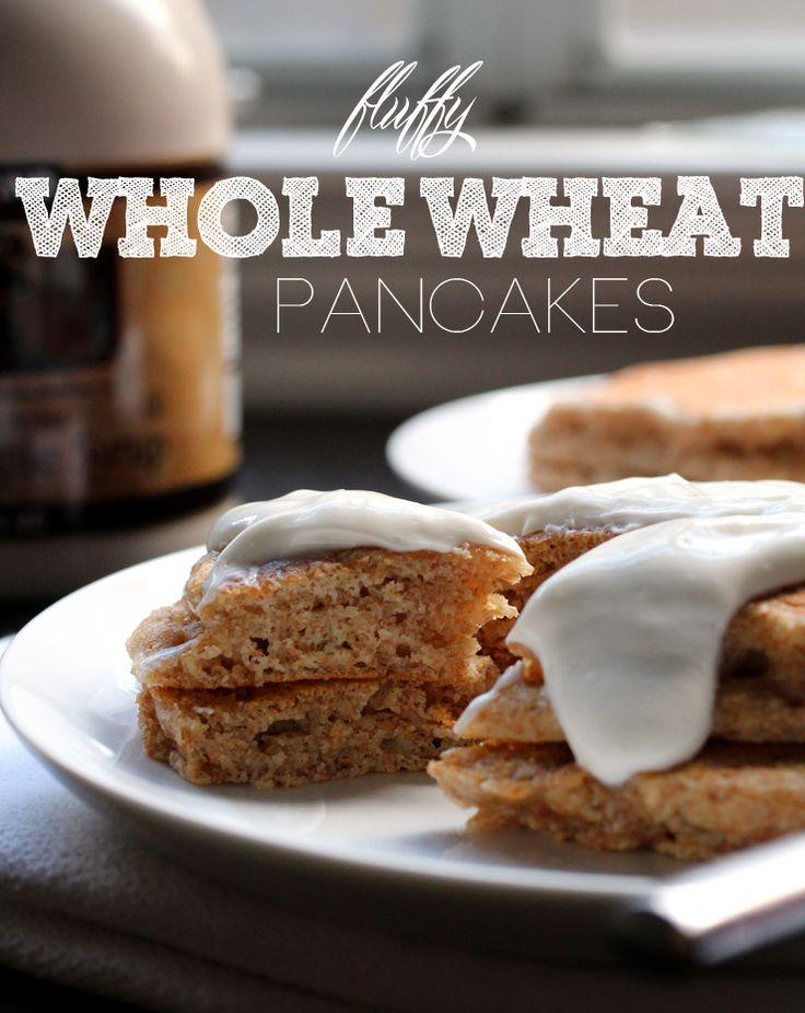 Pancake Fridays: Musings on Whole Wheat Pancakes (with maple yogurt ...