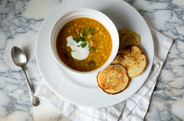 Coconut Red Lentil Soup~ A Stack of Dishes