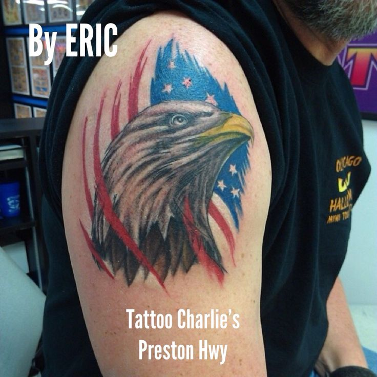Eagle tattoo by eric tattoo charlie 39 s preston hwy for Charlie s tattoo